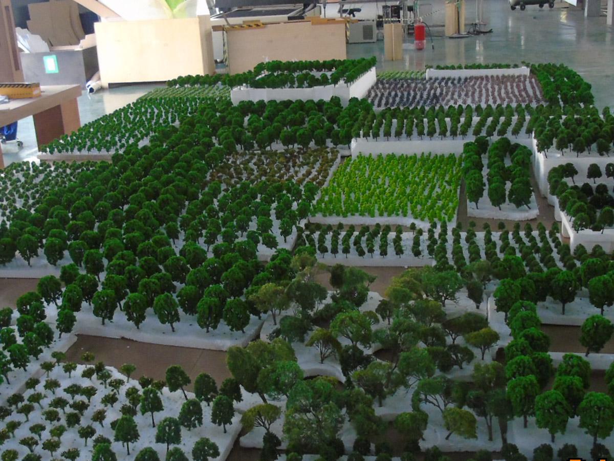 Vegetação para maquetes